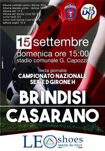 3a giornata: Casarano-Brindisi ore 15:00