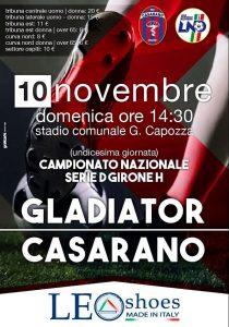 Casarano-Gladiator, via alla prevendita